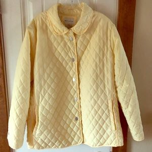 XL Missy 16-18 Yellow Quilted Jacket